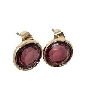 Burgundy Gemstone Post Earrings